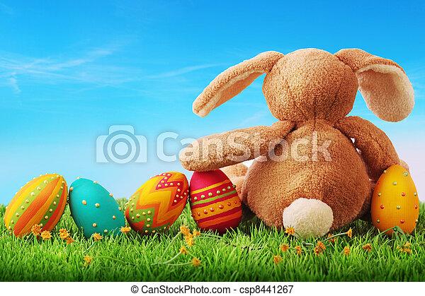 蛋, 復活節, 鮮艷 - csp8441267