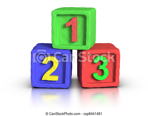 Play Blocks - Numbers - csp8441481