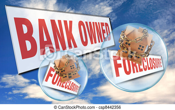 Bank Foreclosure. - csp8442356