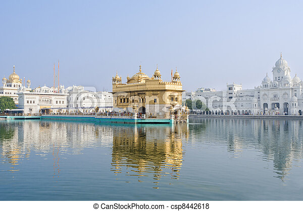 Golden temple, Amritsar, India - csp8442618