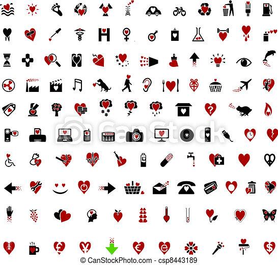 Over 100 Stylish Valentine themed i - csp8443189