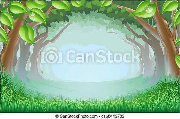 Beautiful woodland scene - csp8443783
