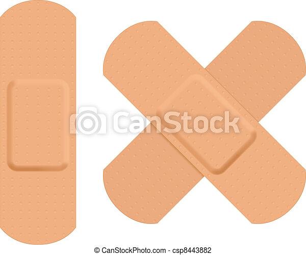First aid plaster. - csp8443882