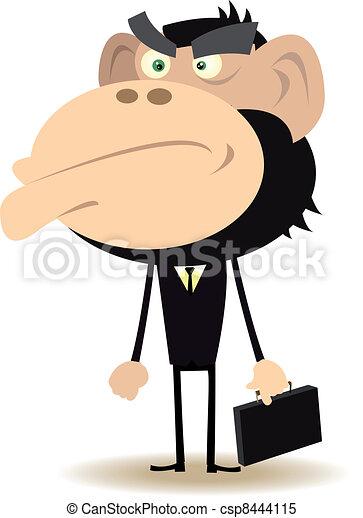 Gorilla Businessman - csp8444115