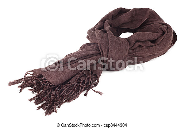 Warm scarf in brown  - csp8444304