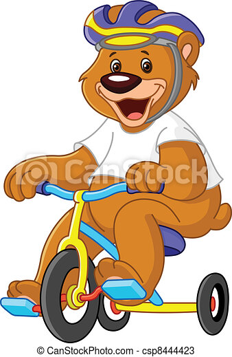 Bear on tricycles - csp8444423