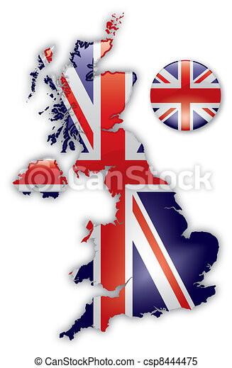 Map of Great Britain - csp8444475