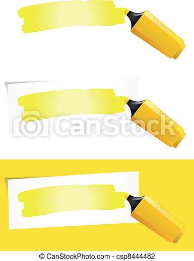 Yellow Felt Tip Pen - csp8444482