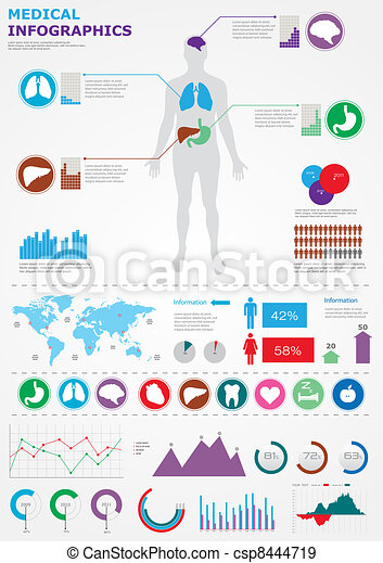 Medical infographics. - csp8444719