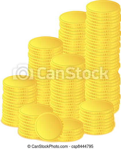 Golden coins - csp8444795