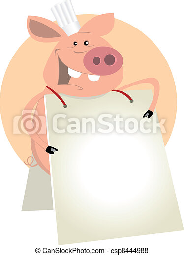Pig Cook Sign - csp8444988