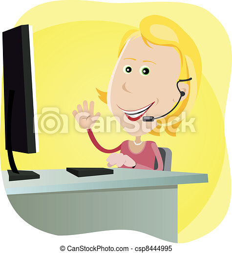Technical support Girl - csp8444995
