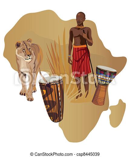 Symbols of Africa - csp8445039