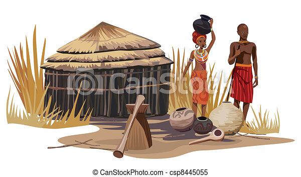 African Village - csp8445055