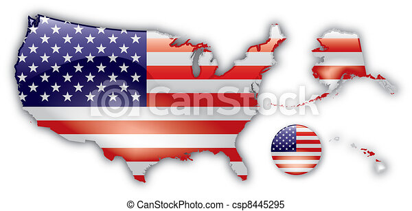 Detailed Map of USA - csp8445295