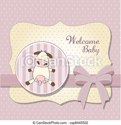 delicate baby girl shower card - csp8445502