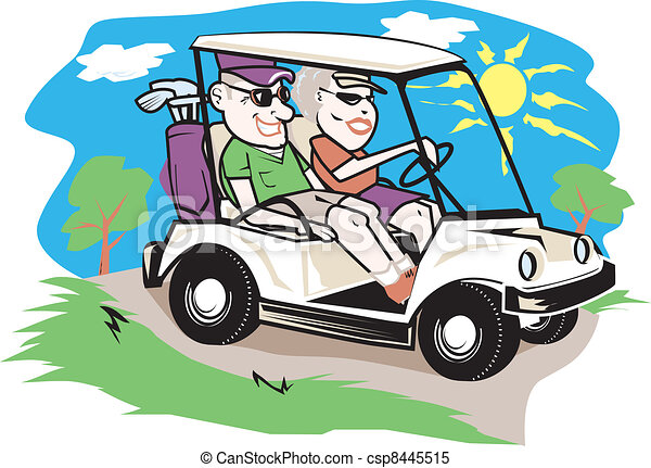 Clip Art Golf Cart Clipart golf cart clipart vector graphics 913 eps clip art couple elderly enjoying a ride on the