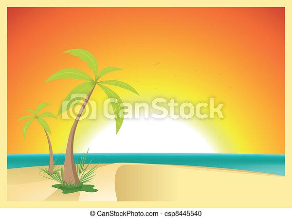 Exotic Beach Postcard - csp8445540