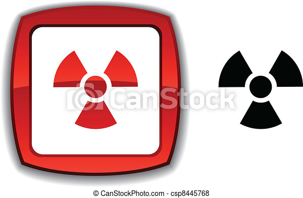 Radiation  button. - csp8445768