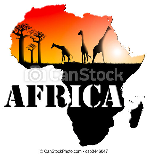 Africa Map Illustration - csp8446047