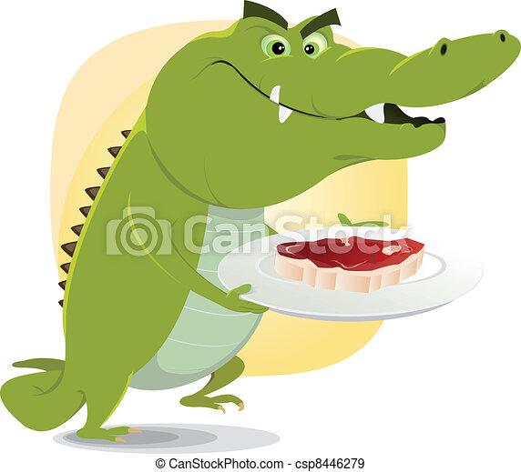 Crocodile Lunch - csp8446279