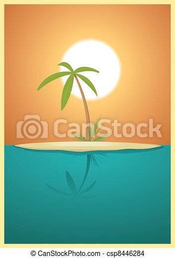 Paradise Island - csp8446284
