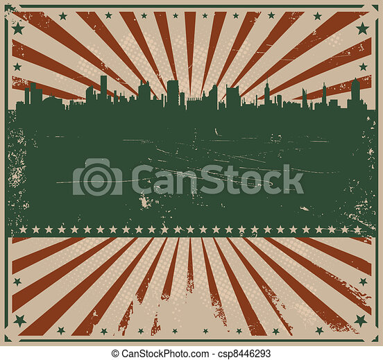 Fourth Of July Background - csp8446293