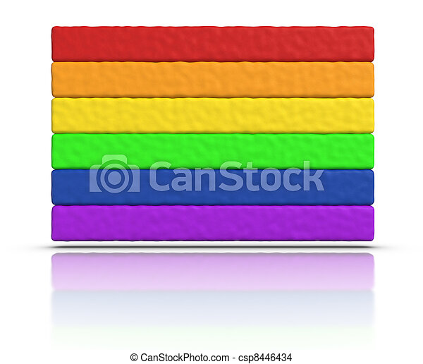 Gay Pride / Rainbow Flag - csp8446434
