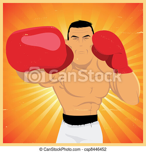 Right Arm Counterpunch And Knockout ! - csp8446452