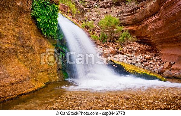 Beautiful Desert Waterfall - csp8446778