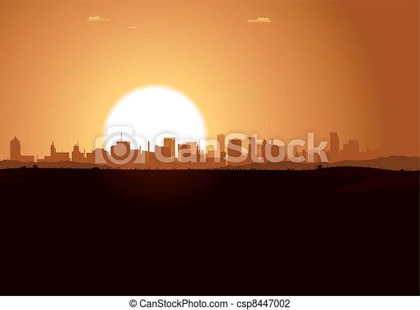 Sunrise Urban Landscape - csp8447002