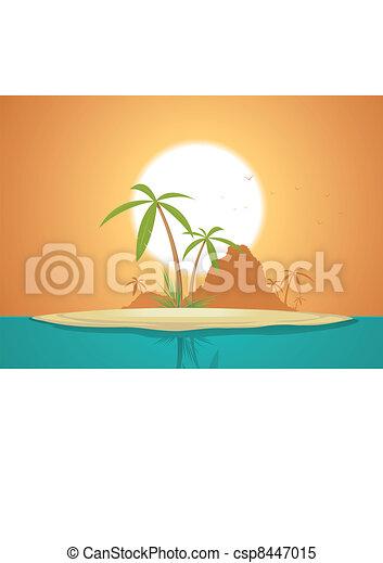Idyllic Island Poster - csp8447015