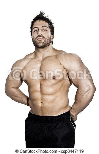 banque de photographies de musculation homme une image de a beau jeune csp8447119. Black Bedroom Furniture Sets. Home Design Ideas
