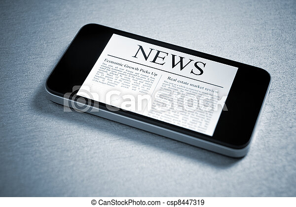 News On Mobile Smartphone - csp8447319