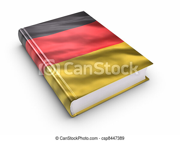 Book covered with German flag - csp8447389