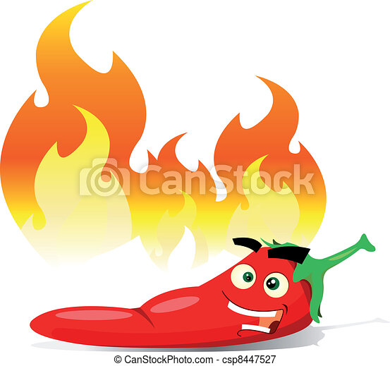 Cartoon Red Hot Chili Pepper - csp8447527