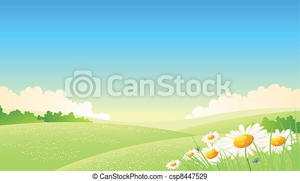Spring Or Summer Seasons Poster - csp8447529