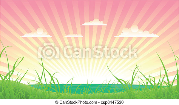 Spring Or Summer Landscape - csp8447530