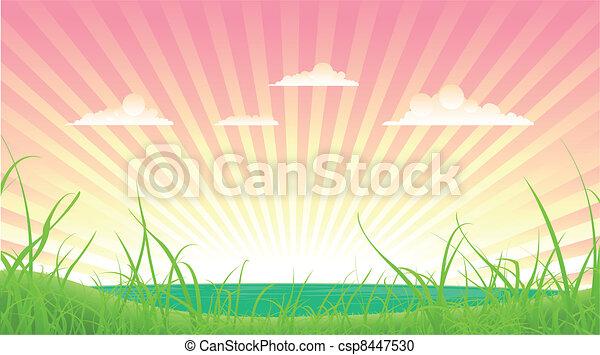 Spring Or Summer Landscape - csp8447530