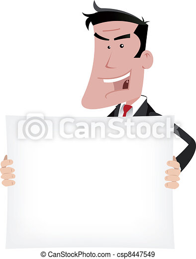 Businessman Advertisement Sign - csp8447549