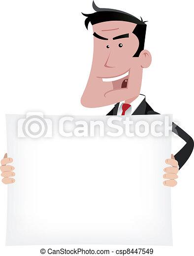 Businessman Advertisement Sign - csp8447549