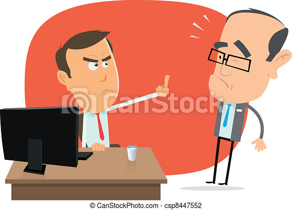 Angry White Collar Replies To The Boss - csp8447552