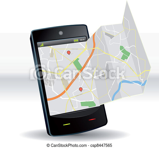 Street Map On Smartphone Mobile Device - csp8447565