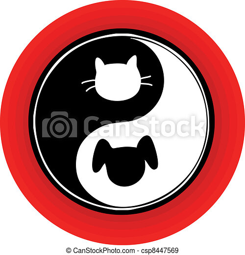 Yin Yang Cat Dog - csp8447569
