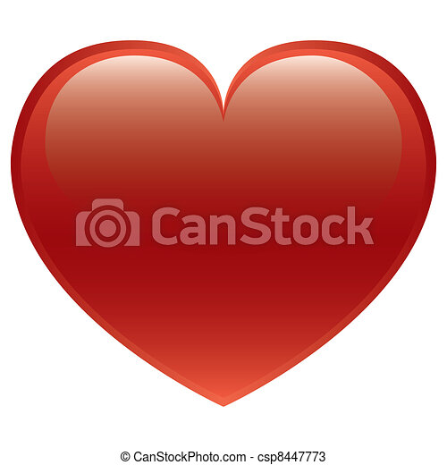 Red Heart Vector - csp8447773