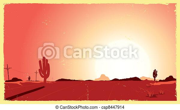 Western Desert Heat - csp8447914
