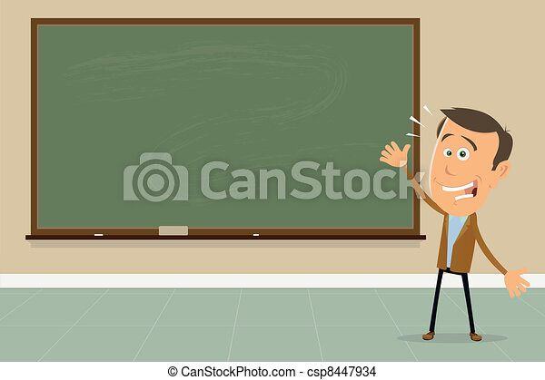 Express Yourself ! - Teacher Showing Blackboard Sign - csp8447934