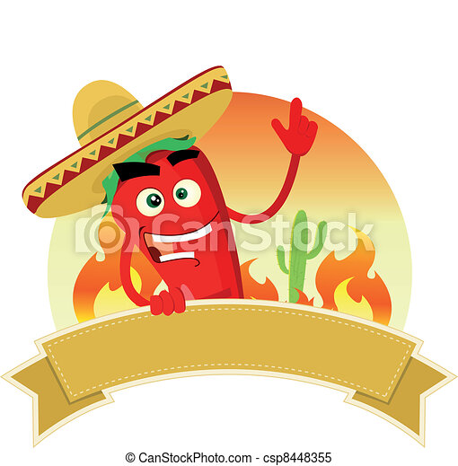 Tex Mex Spice Banner - csp8448355