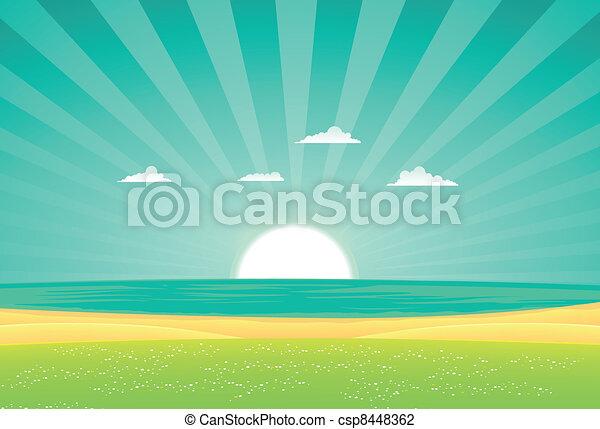 Beach Beyond The Fields - csp8448362