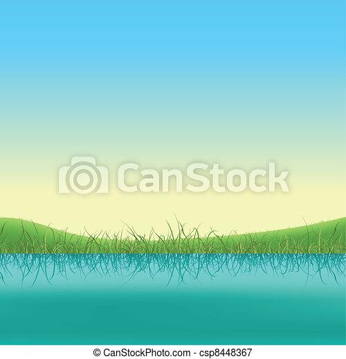 Spring Lake Banner - csp8448367